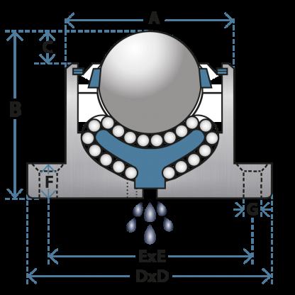 black housed ball transfer unit 92 diagram