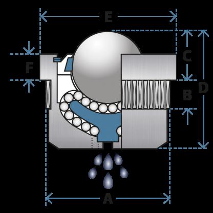 housed ball transfer unit 98 diagram